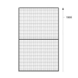 BASIC segmentas 1000x1900mm, rėmas 20x20mm, tinklas 22x100mm, RAL9005