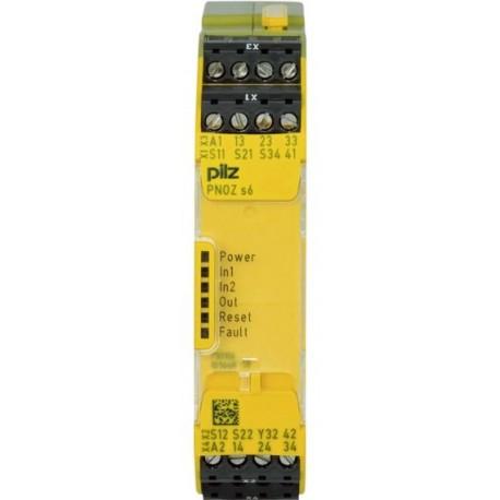 PNOZ s6 24VDC 3 n/o 1 n/c Saugos relė