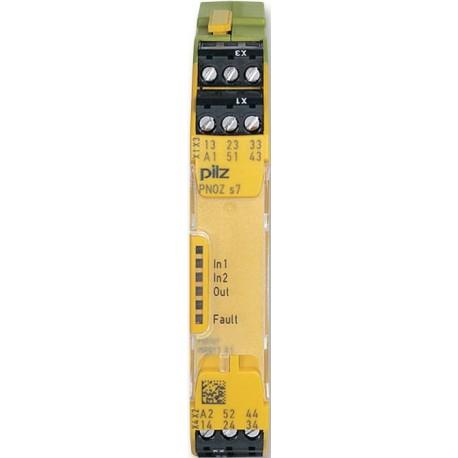 PNOZ s7 24VDC 4 n/o 1 n/c Saugos relė