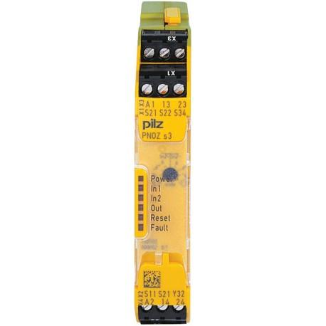 PNOZ s3 24VDC 2 n/o Safety relay
