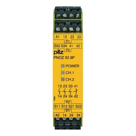 PNOZ X2.8P 24VAC/DC 3n/o 1n/c Saugos relė