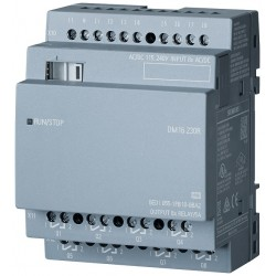 LOGO! DM16 230R expansion module, PS/I/O: 230V/230V/relay, 4 MW, 8 DI/8 DO for LOGO! 8