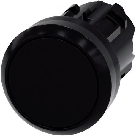Pushbutton, 22 mm, round, plastic, black