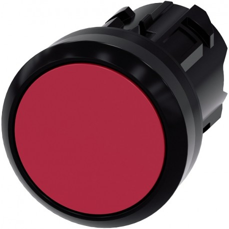 Pushbutton, 22 mm, round, plastic, red