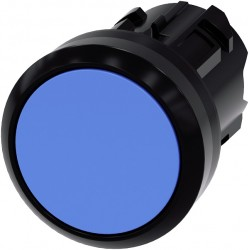 Pushbutton, 22 mm, round, plastic, blue