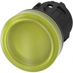 Light indicator 22mm yellow, plastic