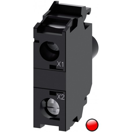 LED module with integrated LED 24VAC/DC, red