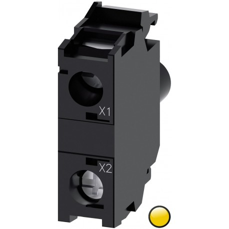 LED modulis su integruotu LED 24VAC/DC, geltonas