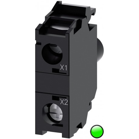 LED module with integrated LED 24VAC/DC, green