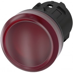 Light indicator 22mm red, plastic