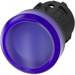 Šviesos indikatorius 22mm mėlynas, plastikinis