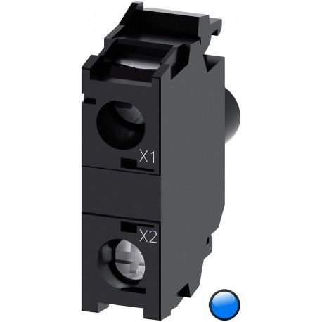 LED modulis su integruotu LED 24VAC/DC, mėlynas