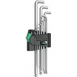 950/9 Hex-Plus 1 SB L-key set, metric, chrome-plated