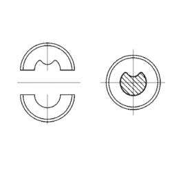 Matrica S2 neįzoliuotiems antgaliams 10mm²