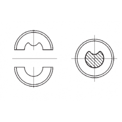 Matrica S2 neįzoliuotiems antgaliams 50mm²