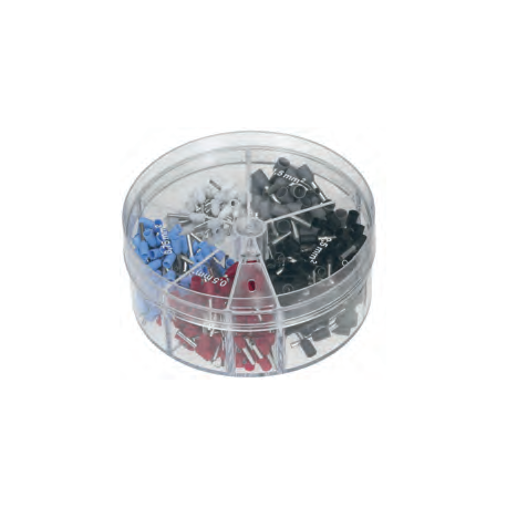 Assortment box with Single end sleeves 0,5-2,5mm²