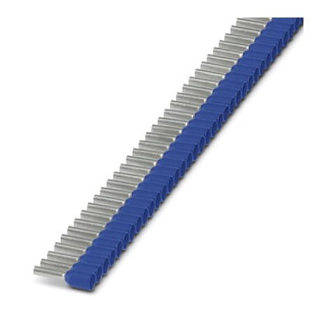 Insulated cable sleeve in strip 2,5mm² -8 Blue 50pcs.