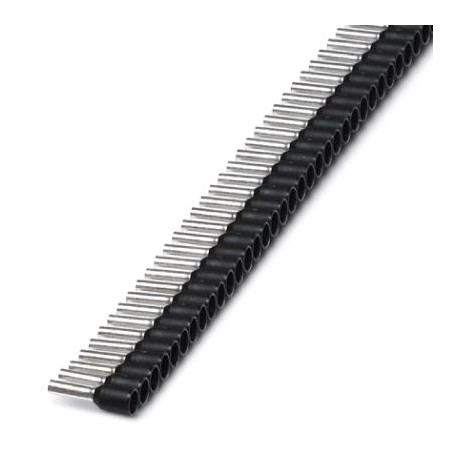 Insulated cable sleeve in strip 1,5mm² -8 Black 50pcs.