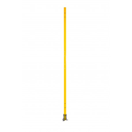 BASIC linear upright 40x40x2060mm, with welded foot, RAL1021, with mounting brackets