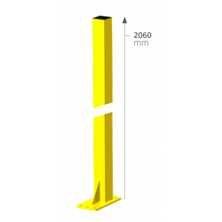 STRONG linear upright 60x60x2060mm, RAL1021, with mounting brackets