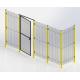 ADAPTAGUARD Segmentas be rėmo 996x2080mm, tinklas - 28x64mm, RAL9005