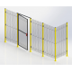 ADAPTAGUARD Frameless segment 996x2080mm, mesh - 28x64mm, RAL9005