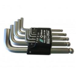 950 PKS/9 SM Hex-plus L-raktų rinkinys, chromuoti