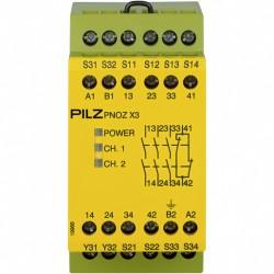 PNOZ X3 230VAC 24VDC 3n/o 1n/c 1so Saugos relė