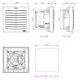 FPI 018 Filter fan PLUS (Airflow IN) 19 m3/h, 230VAC, 92x92mm