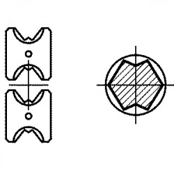 Crimping tools for tubular cable lugs and connectors in druseidt Euro-type design