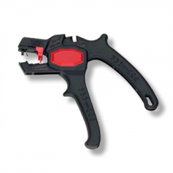 Automatic self-adjusting insulation stripper for cables 0,2-6mm² with cable cutter