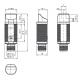 Diffuse mode sensor GLV18-8-400-S/73/120