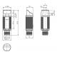 Retroreflekcinis jutiklis GLV18-55-S/73/120